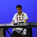 Piano player at Battle of the Bands