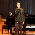 Student singer at MUIDS graduation