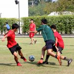 Students compete for football