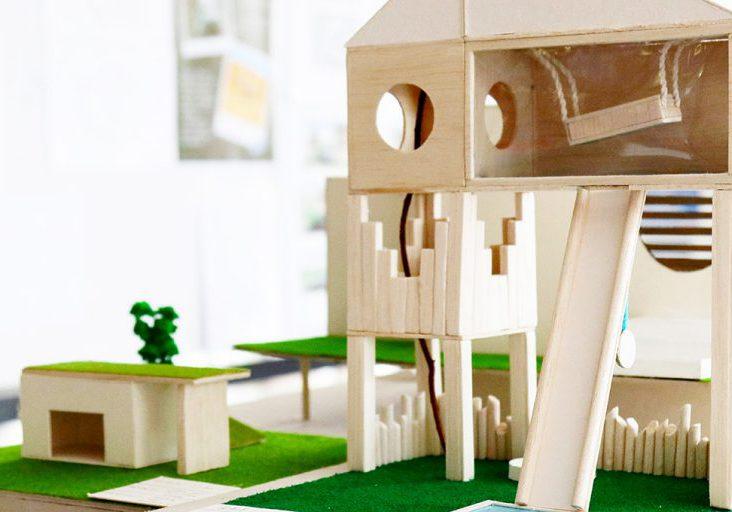 Student model of multi-story house